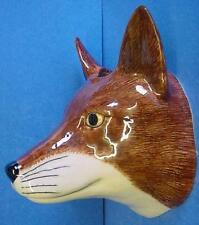 QUAIL CERAMIC FOX OR VIXEN HEAD WALL POCKET OR VASE - BRITISH WILDLIFE ANIMAL