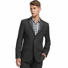 Kenneth Cole Reaction Gray Contrast Blazer Slim Fit Men's Jacket Large NWT!