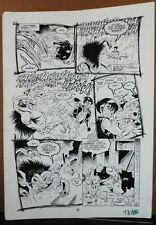 JONNY DEMON #3 PG 9 1994 ORIGINAL ART BY NEIL VOKES(signed) & BRUCE PATTERSON Comic Art