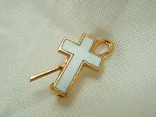 Petite & Pretty Vintage Thermoset Cross w/Staff Pin Patented  1123H