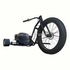 """Black scooter x Go Kart 6.5Hp Engine 3 Wheeler Kart 26"""" rim drift trike"""