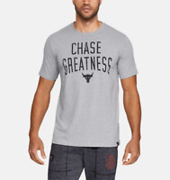 Under Armour Mens UA Project Rock Chase Greatness HeatGear T-Shirt 1326383 NWT