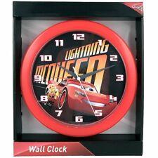 "Disney-Pixar Cars Lightning McQueen 10"" Round Analog Battery-Operated Wall Clock"