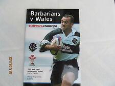 Barbarians v Wales. May 2004. Ashton Gate Bristol.
