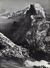 1950s Vintage ANSEL ADAMS Half Dome Yosemite Winter Landscape Photo Art 12X16