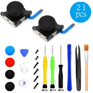 21 in1 Thumb Stick Joystick Replacement 3D Analog For Nintendo Switch NS Joy-Con