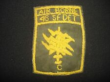 Hand Made Semi-Subdued Patch Det C 46th Special Forces Co. AIRBORNE In Thailand