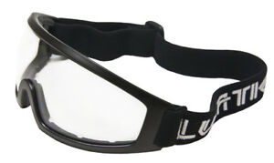 Lunatic Motorcycle Riding Glasses / Goggles Adult - Black - Clear - Single Lens