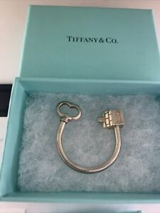 """TIFFANY & Co Sterling Silver 925 """"Key & House Keychain"""" / Signed"""