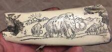 Mammoth Bone Fire Starter scrimshaw replica Unusual Item