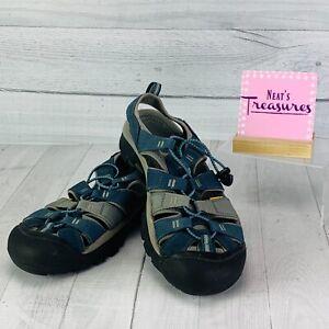 Keens Mens WATERPROOF ANTIODOR Blue Closed Toe Hiking Walking Sandals Size 11.5