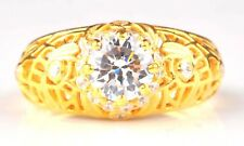 2.70 Carat Solitaire Round Shape Solid 14KT Yellow Gold Women's Anniversary Ring