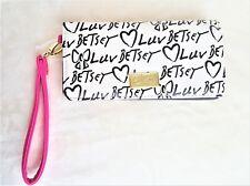 Luv Betsey Wristlet Wallet White Black