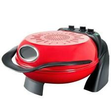 More details for steba pb 1 pizza oven with rotating plate, 1000 w, red/black