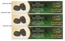 Premium AJWA DATES Ajwa Al Madinah Saudi Arabia Hadith X3 Box with 7 Dates Gift