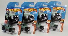 '15 LAND ROVER DEFENDER DOUBLE CAB * LOT OF 4 * 2018 HOT WHEELS * GREEN 1ST ED