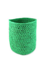 HAND KNIT SPRING GREEN NATURAL FIBER BASKET - VIASOUTH