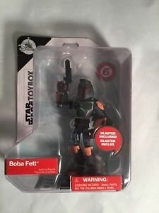"BOBA FETT Star Wars Toybox Disney Store 5"" Action Figure 2018 Jedi"