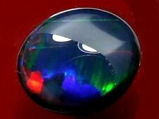 High Dome Cut Rolling Colour Pattern Quality Natural Solid Black Opal 4.78 carat
