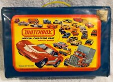 Vintage Blue Matchbox Official Collectors Case Holds 24 Models 1980 with 24 Cars