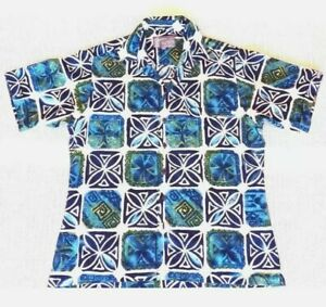 Short Sleeve Shirt Point Zero Vital Cycle Casual Floral Design Size M Near-New