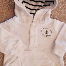SWEET BABY CARTER'S NEWBORN WHITE LITTLE CAPTAIN HOODED JACKET