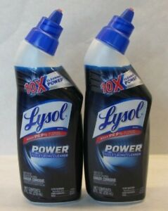 2x Lysol Toilet Bowl Cleaner 10X Cleaning Power 8oz