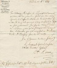 NAPOLEON'S GENERAL MATHIEU DUMAS 1814  LETTER ADDRESS 55e Chef de Bataillon