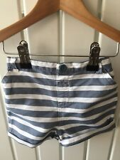 Baby Boy's Clothes 6-9 Mths - 100% Cotton Blue Stripe Pull On Shorts 🐨🐨🐨