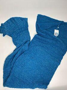Laghcat Adult Crochet Mermaid Tail Blanket Afghan •Adult Size *NWT