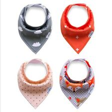 4 Pcs Infant Kids Baby Animal Feeding Saliva Towel Dribble Triangle Bandana Bibs