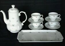 Mitterteich Bavaria Monte Carlo Coffee Tea Set 4 Cups Sausers Matching Tray  D4