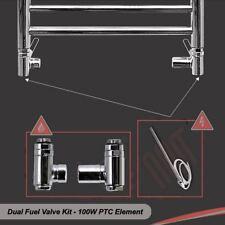 100W (PTC) Heating Element & Dual Fuel Valve Kit - for Towel Rails & Radiators