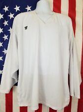 Warrior Hockey Jersey Mens Size Medium Large White Blank Lacrosse Shirt Sweater