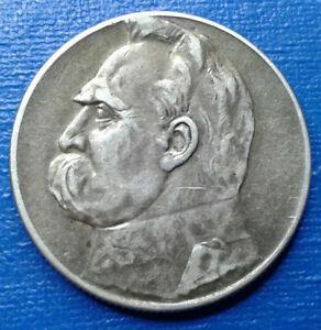 5 Złotych Józef Piłsudski 1934   Silver  11 g