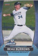 2016 West Michigan Whitecaps Beau Burrows RC Rookie Detroit Tigers
