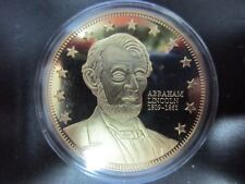 AMERICAN MINT ABRAHAM LINCOLN CIVIL WAR SESQUINCENTENNIAL EDITION GOLD PLATED