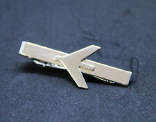 Tiebar Tie ClaspTie Clip Bar Embraer Company SILVER with logo for Pilots Crew