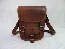 """9"""" Vintage Leather Crossover Messenger Bag Passport Camera Mobile Purse Handbag"""