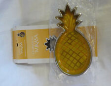 Mikasa Celebrations Cast Aluminum Pineapple Dish NIB Enameled Glazed Interior 8""
