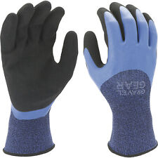 Gravel Gear Protective Gear Men's Double-Dipped Latex Work Gloves Blk/Blue Lg
