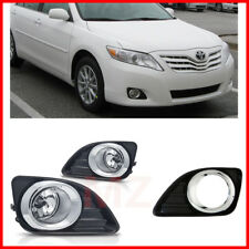For 10-11 Toyota Camry Bumper Fog Lights Driving Lamps Set Pair Assembly Kit OE