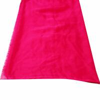 Pink Dupatta Indian Vintage Craft Fabric Long Stole Vintage Craft Fabric Scarf