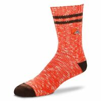 Cleveland Browns NFL For Bare Feet Men's Alpine Soft Crew Socks-SZ LARGE