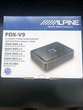 Alpine PDX-V9 900 Watt 5-Channel Car Audio Class D Amplifier 100Wx4 + 500Wx1 RMS