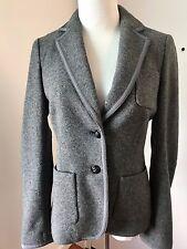 Banana Republic Women's Gray Wool Blend 2 Button Blazer Jacket Sz 4 NWOT ITALY