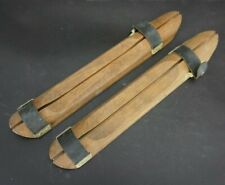 Vintage Wood Ice Skate Blade Protectors
