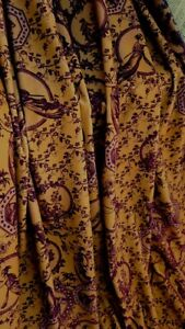 DESIGNER FABRIC Regency Gold  velvet  TOILE DE JOUY cotton velvet