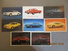 Lot of 8 Different Camaro Postcards Excellent Condition Grp 68