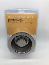 Monogram Brass Disposal Stopper and Flange Chrome Plated MB132978 - New Sealed